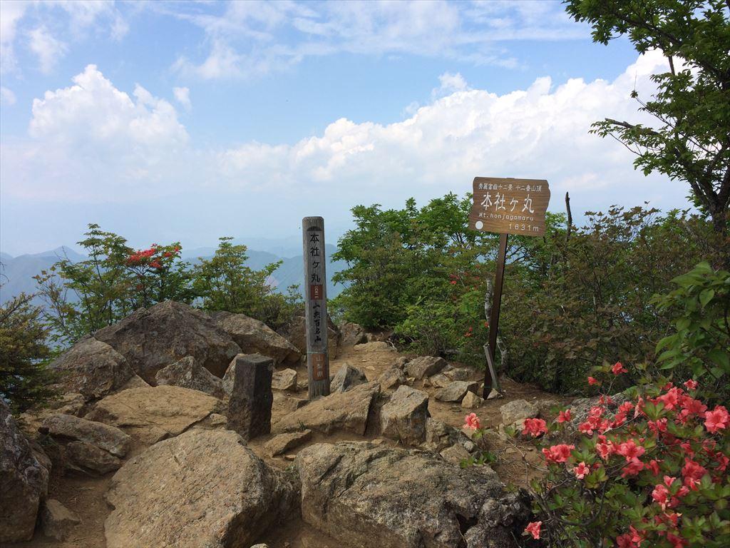 清八山~本社ヶ丸  日帰り登山 秀麗富嶽十二景 12番山頂 アクセスが悪い名峰(2015.5.31)