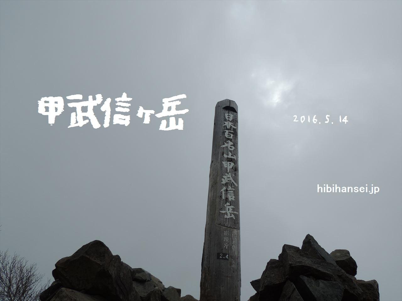 甲武信ヶ岳 弾丸登山(西沢渓谷) 山を愛するボンビー達に捧ぐ路線バスによる日帰り登山(2016.5.14)