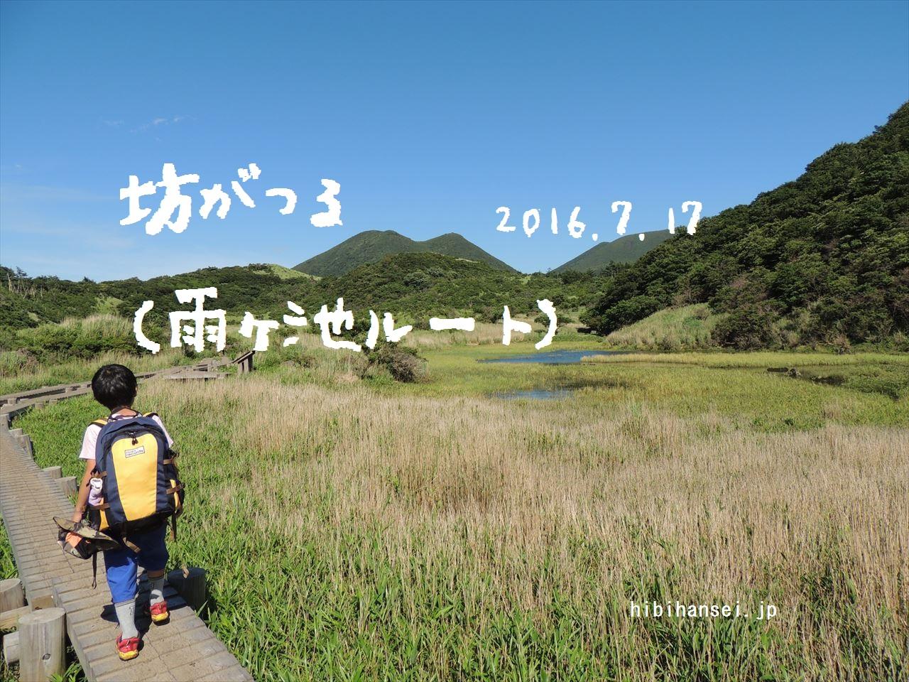 坊ガツル 登山(雨ヶ池越ルート) 九重の懐へ夏休み先取りのテント泊(2016.7.17)