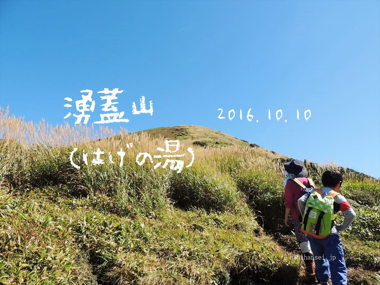 涌蓋山(はげの湯) すすき野原の男の子 日帰り登山(2016.10.10)