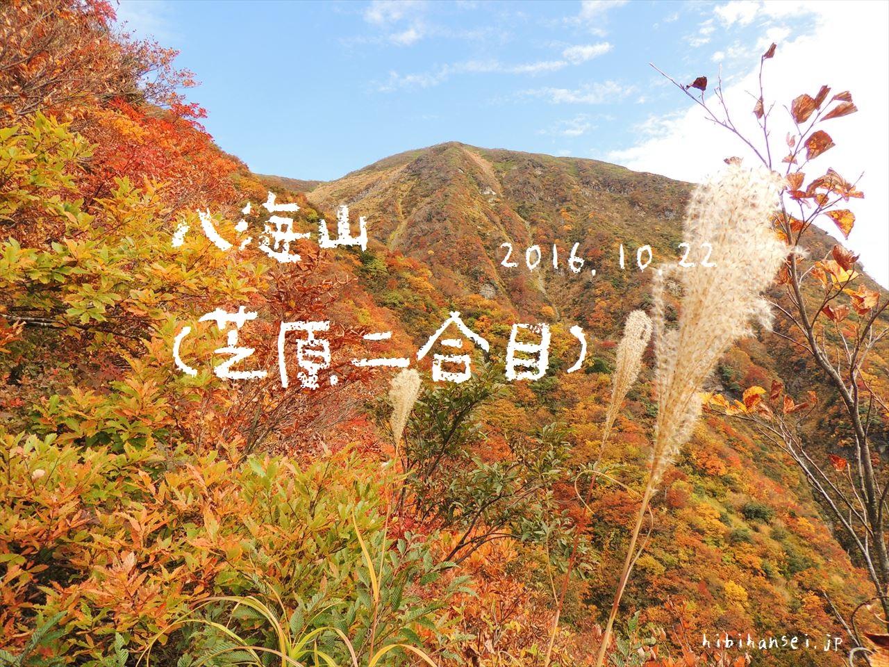 八海山 紅葉登山(屏風尾根) 萌える秋に色付く八ツ峰(2016.10.22)