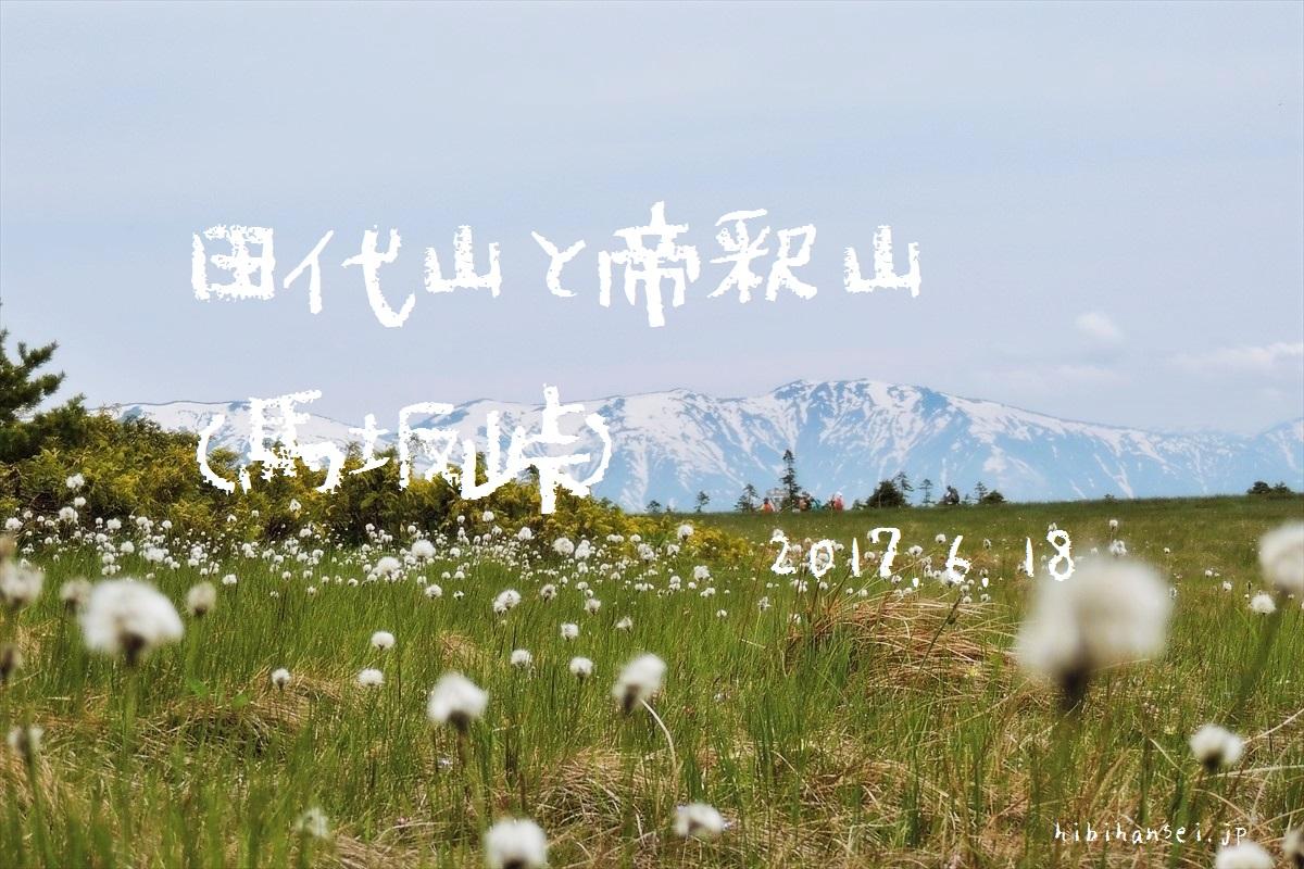 田代山と帝釈山 登山(馬坂峠) オサバ草祭りで賑わう花の楽園と雲上の湿原(2017.6.18)