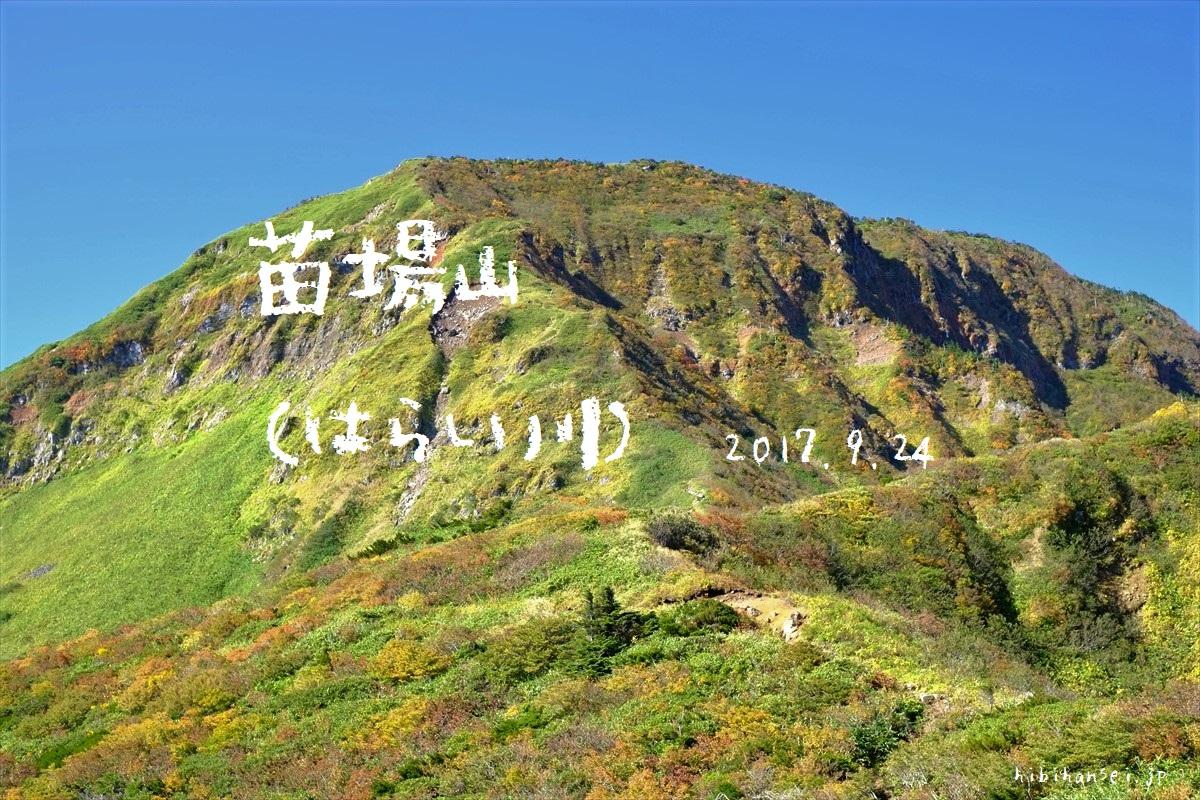 苗場山 紅葉登山(祓川) 秋晴れに草紅葉なびく天空の楽園 見渡す限り平らな峰