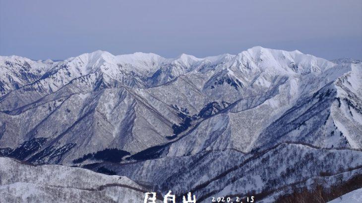 日白山 雪山登山(二居) ワカンのベルトが切れて踏み抜き地獄 積雪期限定で登れる山は谷川連峰の大展望