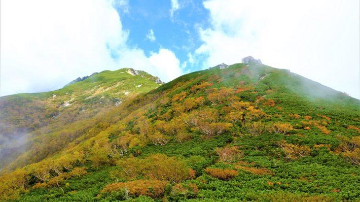 空木岳と宝剣岳 紅葉登山(檜尾避難小屋泊) 極楽と地獄!中央アルプスの主脈は岩稜と紅葉の大絶景